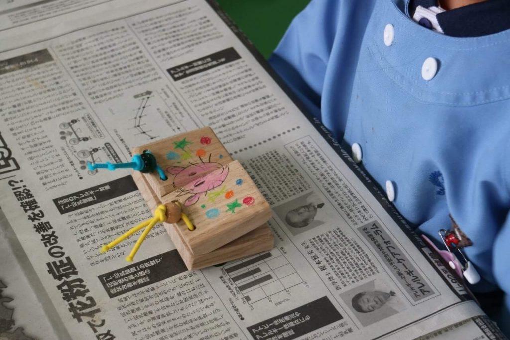 (日本語) 子供たちが心を込めて作ってくれたカスタネット